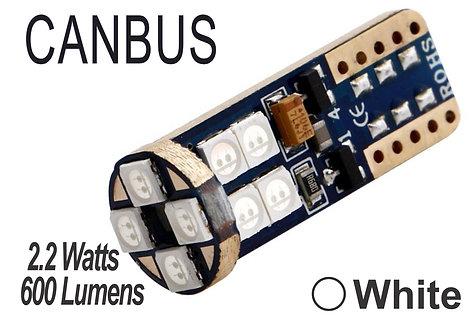 T10 LED 12 Led Canbus 2 pcs White
