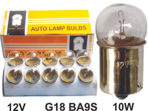 G18-67 Ba9S 12V10W Auto Bulb 10 Pcs