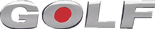 Golf Word Emblem
