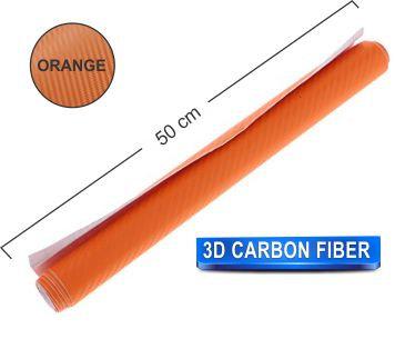 200x50 cm Orange Carbon Fiber Paper