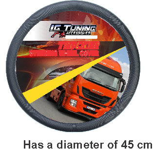 Steering Wheel Cover Large 45 cm Black