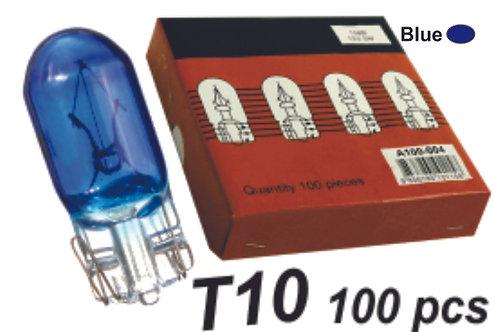 T10 Bulb Glass Blue 100Pcs