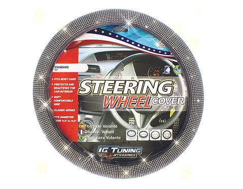 Steering Wheel Cover Bling Bling Gray
