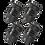 Thumbnail: Black 4Pcs.Set Valve Caps.