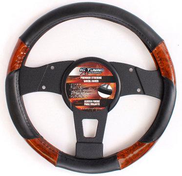Steering Wheel Cover Max Type R Black Wood
