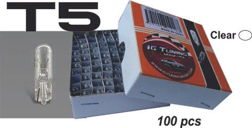 T5 Bulb Glass Clear 100 Pcs