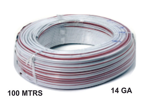 Cable Wire 100 Mtrs Alum 14 Ga White Red