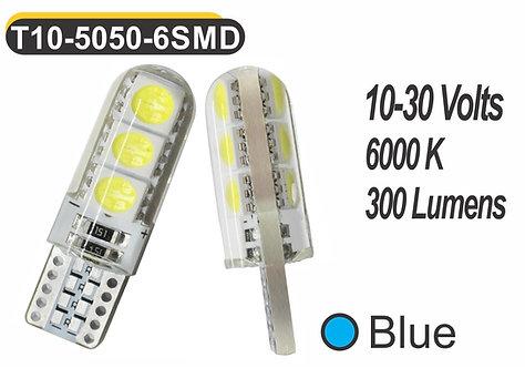 T10 LED 6 SMD 2 pcs Blue