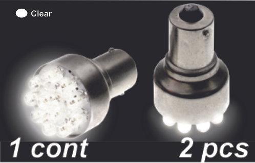 Sing.Cont Clear 12Led Bulb  (2Pcs Sets)