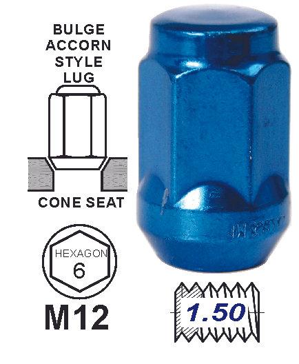 Bulge Acorn Blue 35Mm 12X1.50