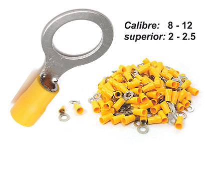 Hole Yellow Terminal Nro 10 100 Pcs