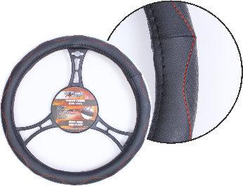 Steering Wheel Cover Curves Black