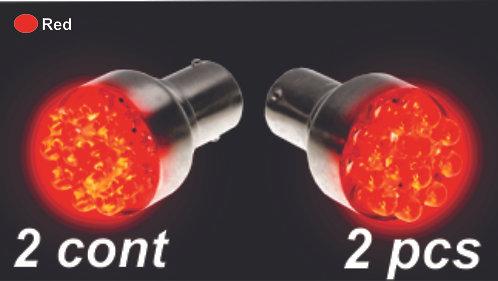 Sing.Cont Rojo 12Led Bulb  (2Pcs Sets)