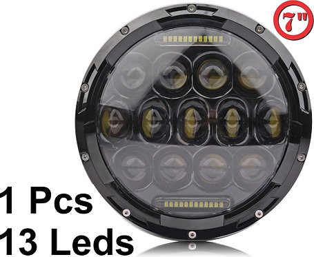 LED Headlight Jeep 13 leds 1 pcs