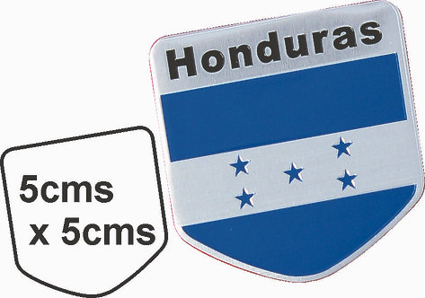 Sticker metal Honduras Flag