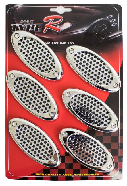 Air Flow 6 Pcs Oval chrome