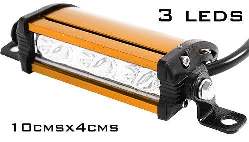 Alu Orange 3 LED Light Bar