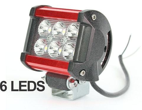 Aluminum Red 3x2 Led Light Bar