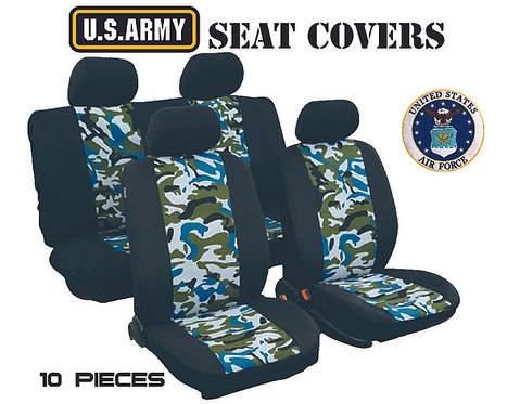 Seat Cover Military 10 pcs Green