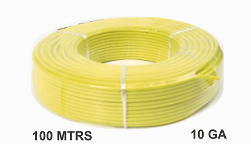 Cable Wire 100 Mtrs Alum 10 Ga Yellow