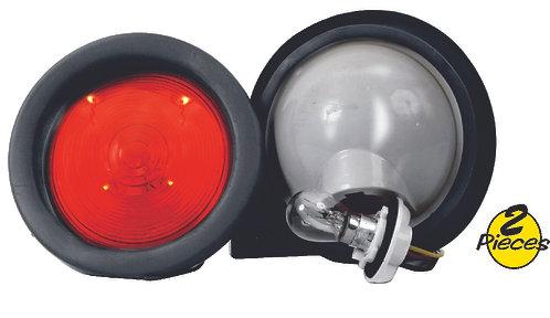 Round Stop Turn Tail Light Red 2 pcs