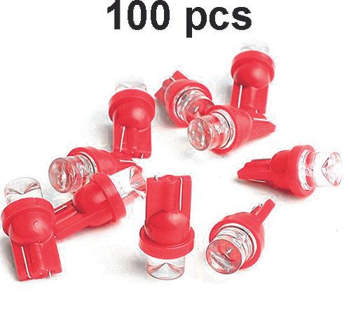T10 Led Red 100 Pcs