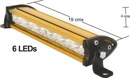 Alum Yellow 6 Led Light Bar