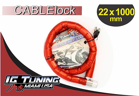 Motorcycle Cable Lock Armored 22x100 cms