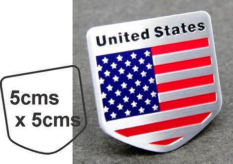 Sticker metal USA Flag
