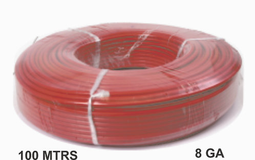 Cable Wire 100 Mtrs Copper 8 Ga Red