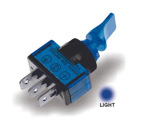 Small Blue Switch W/Light