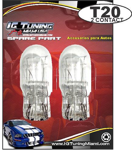 Two Contac T20 Clear Glass Bulb  10 Pcs
