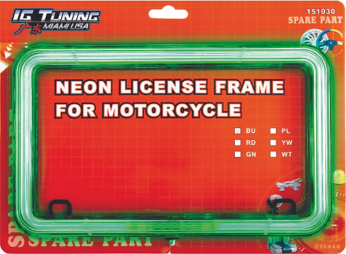 21 Led Motorcycle Licence Green