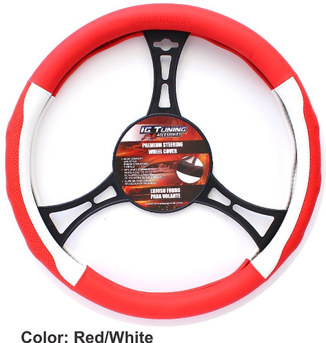 Steering Wheel cover Champion Red White
