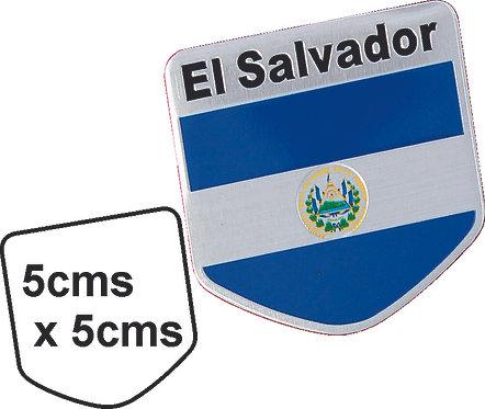 Sticker metal Salvador Flag
