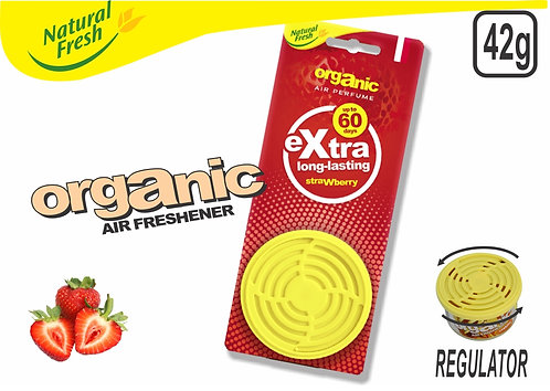 Organic Can With Header Strawberry 42G
