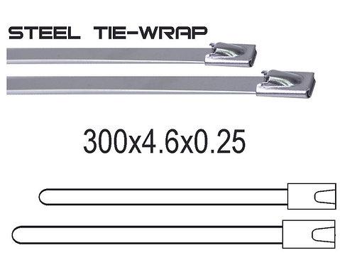 300x4.6x0.25 Metal Tie Wrap