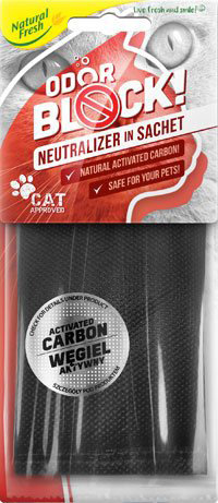 Odor Block Carbon Sachet Cat