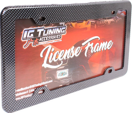 License Plate Frame Carbon