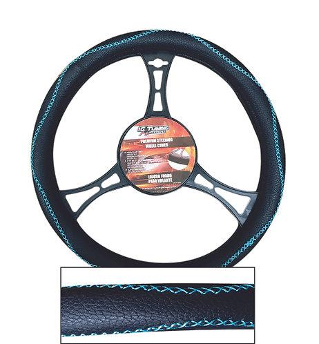 Steering Wheel Cover Handmade Blk-Bl