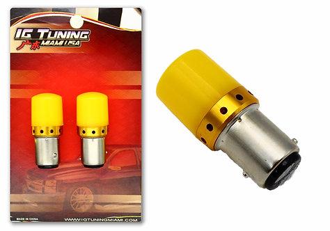 Double Cont LED Strobe Yellow 2 pcs