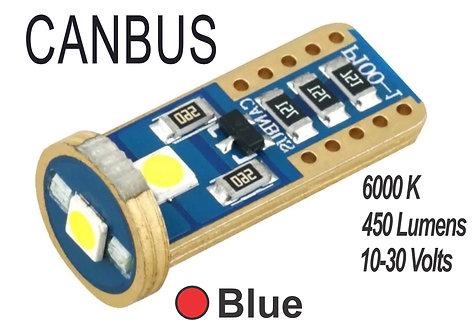 T10 LED 3 Led Canbus 2 pcs Red