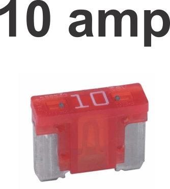10 Amps Micro Fuse 100 Pcs