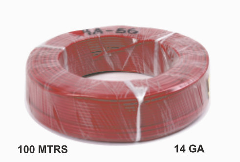 Cable Wire 100 Mtrs Copper 14 Ga Red