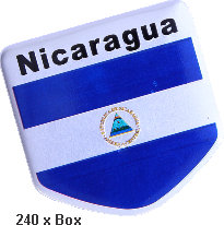 Sticker metal Nicaragua Flag