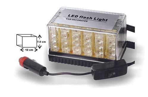 LED Flash Light Red Blue 48 leds