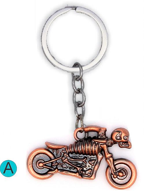 Moto skeleton Key Chain