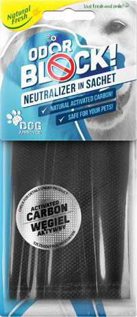 Odor Block Carbon Sachet Dog