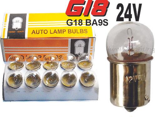 Double Cont  Glass Bulb 24 Volts 10Pcs