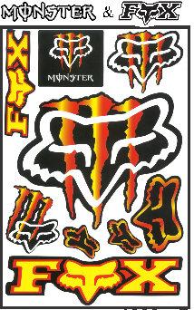 Stickers Motorbikers 9 pcs
